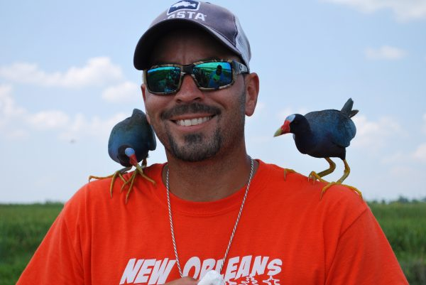 Capt'n Derek with Purple Gallinules