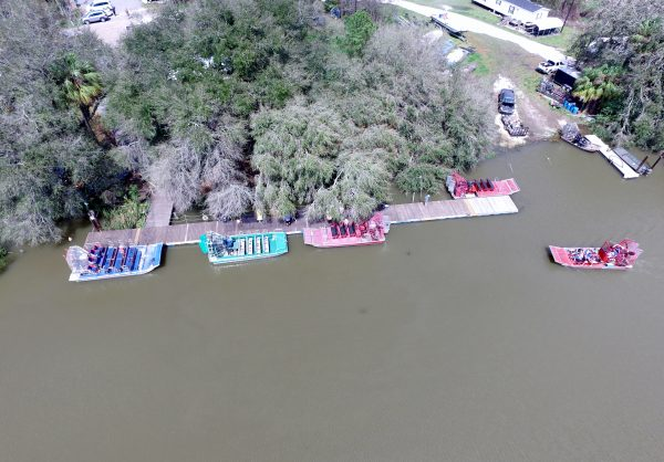 Drone view of our airboat site..
